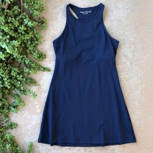 Outdoor Voices Doubles Exercise Swim Dress in Navy